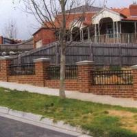 Brick & Steel Fence