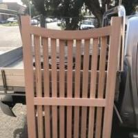 solid timber gate